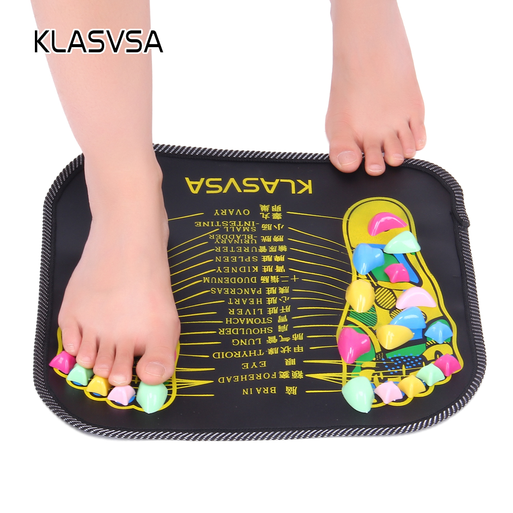 KLASVSA Reflexology Walk Stone Foot Leg Pain Relieve Relief Walk Massager Mat Health Care Acupressure Mat Pad massageador aptoco chinese reflexology walk stone pain relieve foot leg massager mat health care acupressure