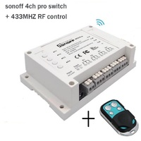 ITEAD Sonoff 4CH pro 4 Gang 433MHZ Mounting Wireless Control WIFI Smart Switch Home Light Alexa Remote 10A/2200W