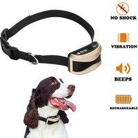 1pcs No Shock Sound Vibration Humane Dog No Bark Collar Waterproof Rechargeable