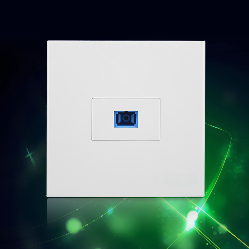 Best Price Wall Socket Plate SC Optical Fiber Panel Faceplate Outlet Plug 86*86mm Free Shipment