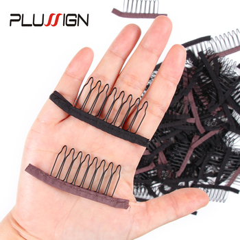 Black Brown Best Quality Combs Clips For Wig Making 100 Pcs/Lot Wholesale Attachment Hair Metal Stainless Steel - discount item  35% OFF Hair Tools & Accessories