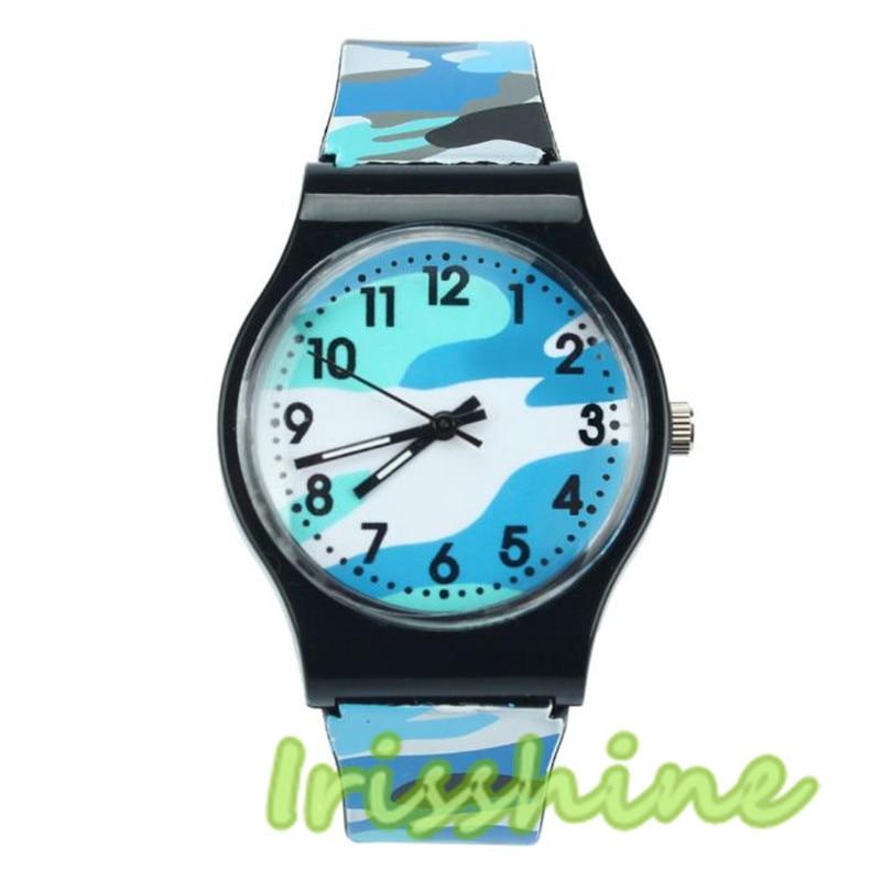 Irissshine Barn titta på Camouflage Watch Quartz Armbandsur för - Barnklockor - Foto 4