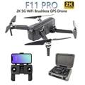 SJRC F11 PRO 5G WiFi RC Drone GPS Pieghevole Droni Con 2 K Macchina Fotografica HD Brushless Quadcopter Drone 28 minuti Tempo di Volo VS F11 SG906