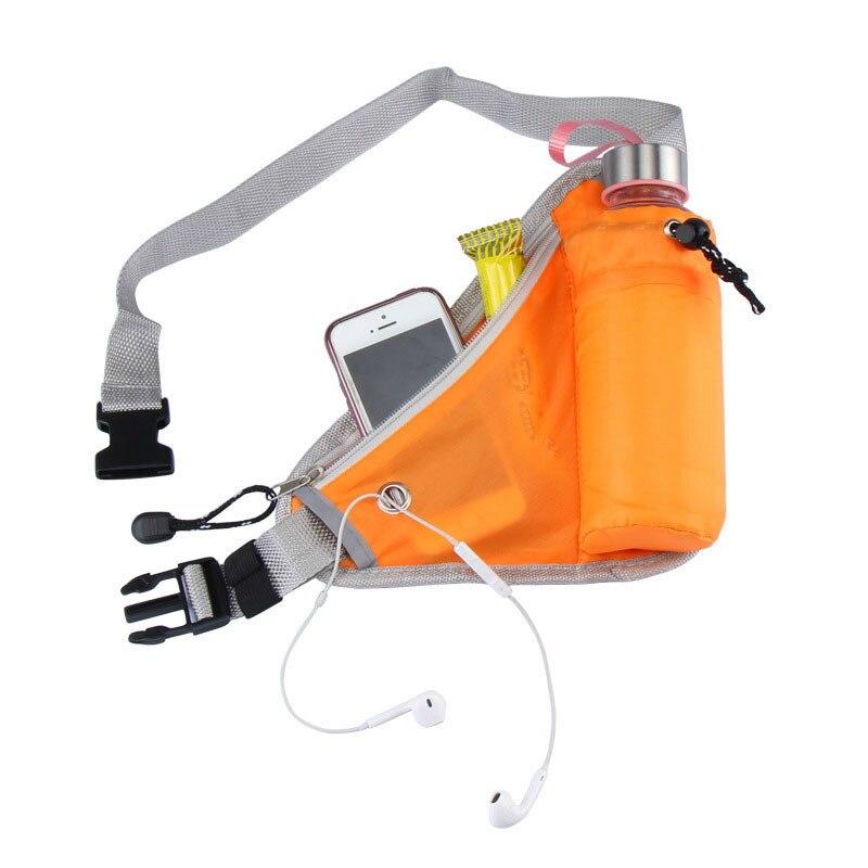 Fanny Pack Women Men Waist Bag Water Bottle Holder Pouch Purse Bag Unisex Waist Bag Sports Style Belt Travel Mobile Phone Bag