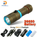 100M Diver Flashlight LED Torch cree xm-l2 constant current 3200lm 18650 OR 26650 Underwater Diving Light Lamp rechargeable