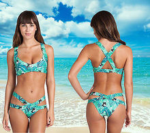 2017 New Summer Women's Sexy Push-up Bikini Set Padded Bandage Swimsuit Swimwear Bathing Suit Beachwear 2 Piece Set