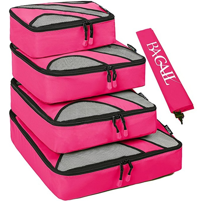 Breathable Travel Bag 4 Set Packing Cubes Outdoor tool Luggage Packing Organizers Clothing Organizer Travel Kit Bag Laundry Bag