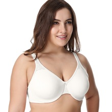 Women's Smooth Full Coverage No Padding Underwire Seamless Plus size Minimizer Bra