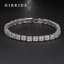 HIBRIDE JEWELRY Brand Charm Cubic Zircon Wedding Bracelets For Women Gift,White Gold Color Bangles Luxury Women Jewelry, B-22