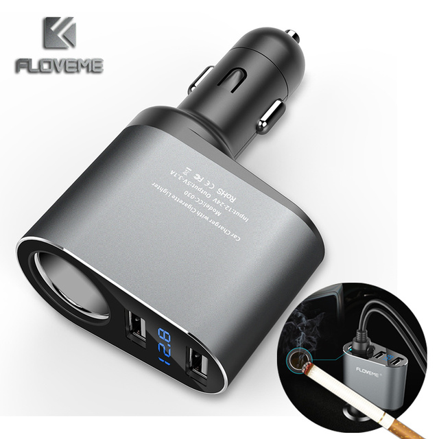Floveme Dual Usb Car Charger 5v 2 1a For Xiaomi Iphone Universal