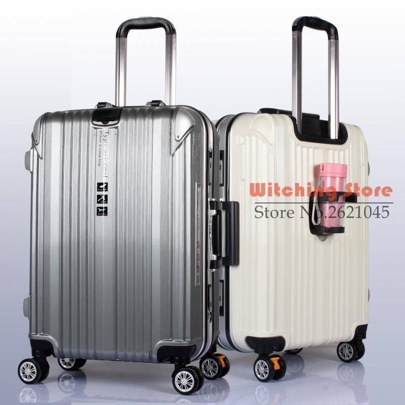 20 INCH 2024 Scrub the cup braking wheel aluminum frame rod solid font b luggage b