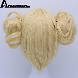Image 5 - Anogol двойной хвост аниме My Hero Academy химико Тога крест мое тело короткий прямой блонд Синтетический Косплей парик для Хэллоуина