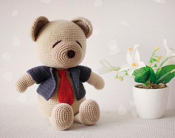 Crochet Bear Doll   Rattle