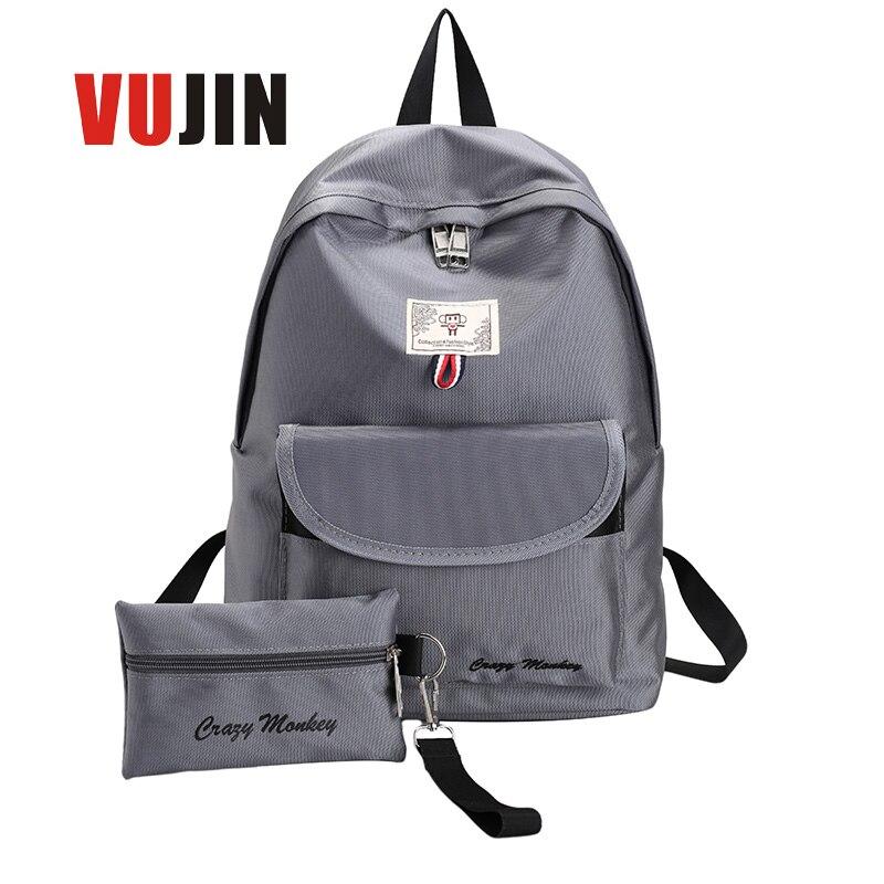 Mochilas Letter Top New 2017 Mochila Escolar Kpop Women Backpacks Waterproof Nylon School Bags Girl Female