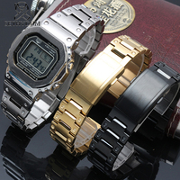 316L Stainless steel watchband for casio g shock GW M5610 DW5600 GW 5000 DW 5030 G 5600 watch band and case solid steel band