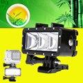 Водонепроницаемый Светодиодный Свет Подводный 40 м Дайвинг Лампа Крепление для Gopro DV Камеры HTC XIAOYI SJCAM SJ5000 SJ6000 Фонарик лампы