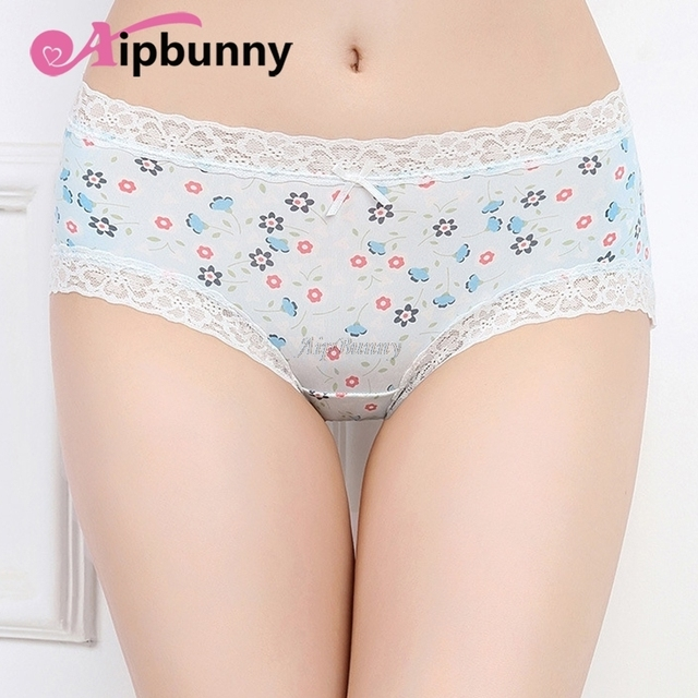 7a578a25d082 big Girl Panties Chastity Women's Briefs Lingerie sexy 100% Cotton  Underwear Flower Printed