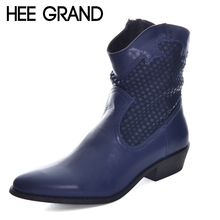 HEE GRAND Pointed Toe Western boots Autumn and Winter Women Shoes Women Ankle Fashion Boots Patchwork Laides Boots XWX6065
