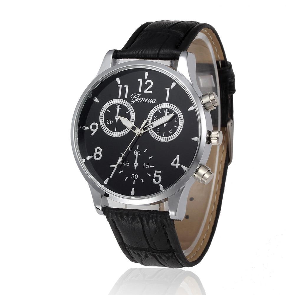 Man Watch Retro Design Leather Band Analog Alloy Quartz Wrist Watch Mens watches mens 2019 men wristwatch clock