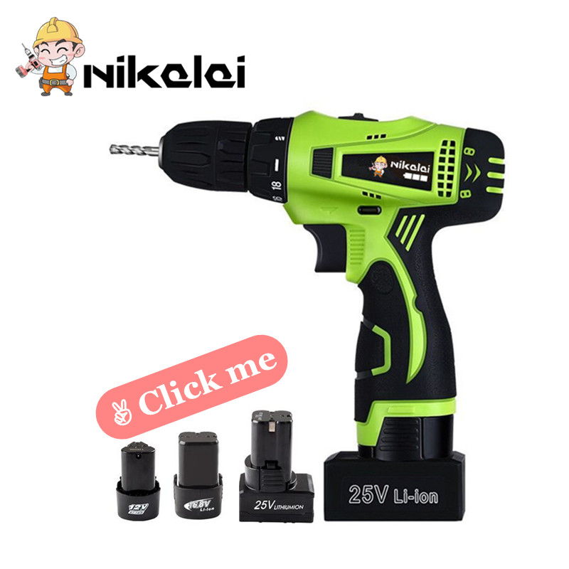 16.8V Cordless Drill With Spare Lithium Battery Carry Suitcase Household Hand Electric Screwdriver Gun Woodworking Tool