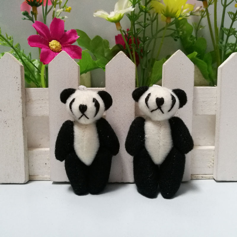 Groothandel 100 stks/partij 3.5 cm tot 4 cm Mini Gevulde Jointed Panda Pop Pluche Speelgoed, DIY Bruiloft Accessoire Panda Poppen-in Gevulde & Pluce Dieren van Speelgoed & Hobbies op  Groep 2