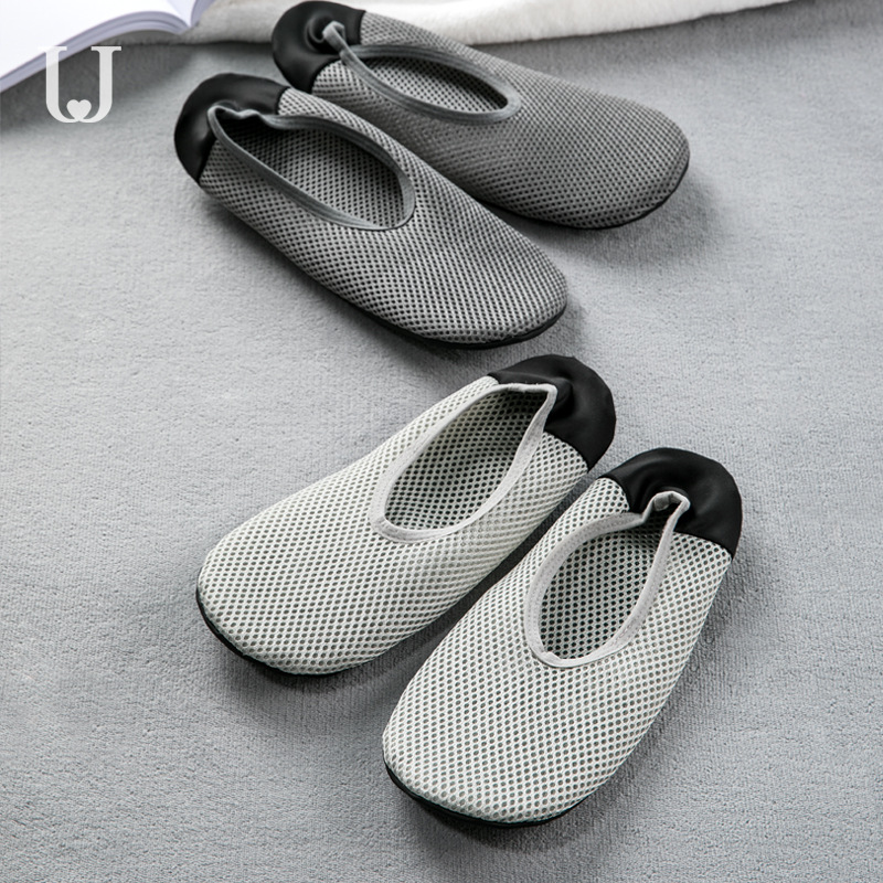 Xiaomi Jordan&Judy Foldable Ultra Light Shoes Home Casual Slippers Breathable Polyester Mesh Antibacterial Deodorant Shoes