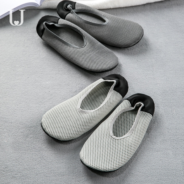 Youpin Jordan&Judy Foldable Ultra Light Shoes Home Casual Slippers Breathable Polyester Mesh Antibacterial Deodorant Shoes