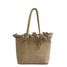 купить 2018 Quality Straw Bags Women Summer Rattan Bag Female Handmade Woven Beach Shoulder Bag Girls Bohemia Handbag Bali Tote Bags дешево