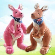 Puha Plüss Játékok Kenguru Majom & Fiú Gyerekjátékok Tömött Plüss Állatok Ausztrál kabalája Gyerek baba Vállalati ajándékok 12,5 hüvelyk