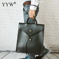 Men's Executive Briefcase Business Male Bag Brown Portfolio Bags for Men Black PU Leather Handbag A Case for Documents
