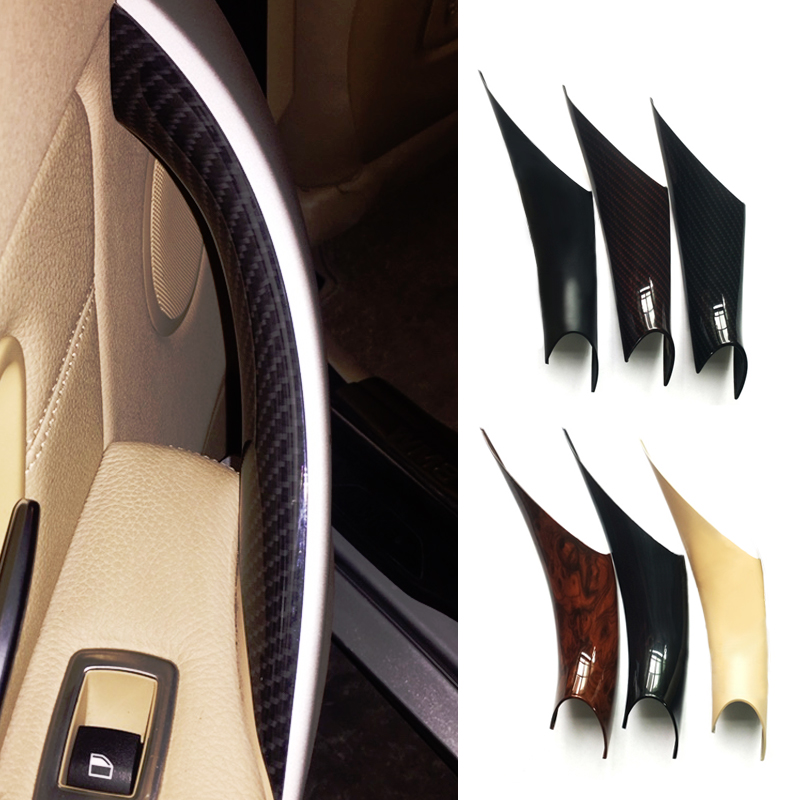 Car Carbon Texture Interior Door Handle Pull Protective Cover For BMW 3 4 Series F30 F35 2012 2013 2014 2015 2016