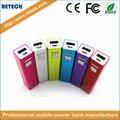 18650 de la batería powerbank 2600 mah cargador portátil cargador portátil batería externa cargador de batería para teléfono movil