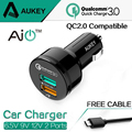 Aukey 100% Original Quick Charge 3.0 Car Charger 34.5W 2 USB  For iPhone Samsung Galaxy Galaxy S6 / Edge / Plus, Note 5 / 4