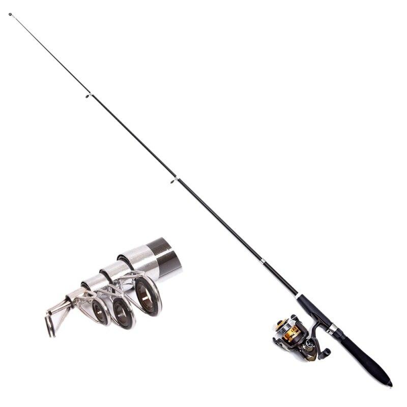 Mini Short Retractable Fishing Rod Glass Fiber Reinforced Plastics/ FRP Portable Flexible Elastic Ocean Ice Fishing Rods