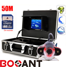 50m Fish Finder Underwater 1000TVL Ice Fishing VIdeo Recording Camera DVR 7″ TFT Color Fish Finder Camera