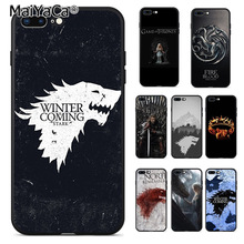 MaiYaCa Game Of Thrones Protective black silicone soft tpu M