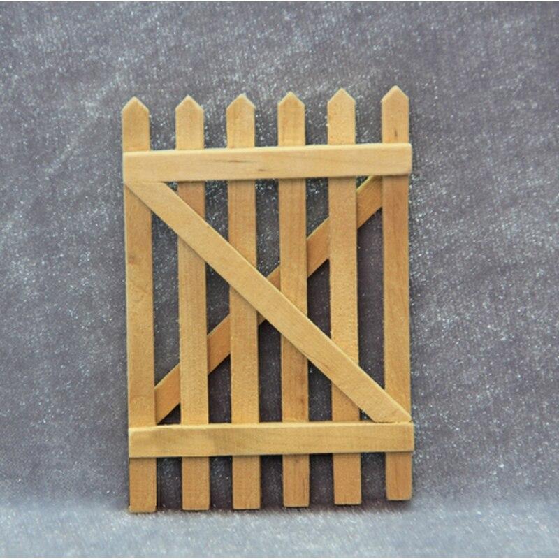 G07-x438 детская игрушка в подарок 1:12 кукольный домик мини Мебель миниатюрный rement кукла аксессуары DIY Сад, деревянный забор 1 шт.