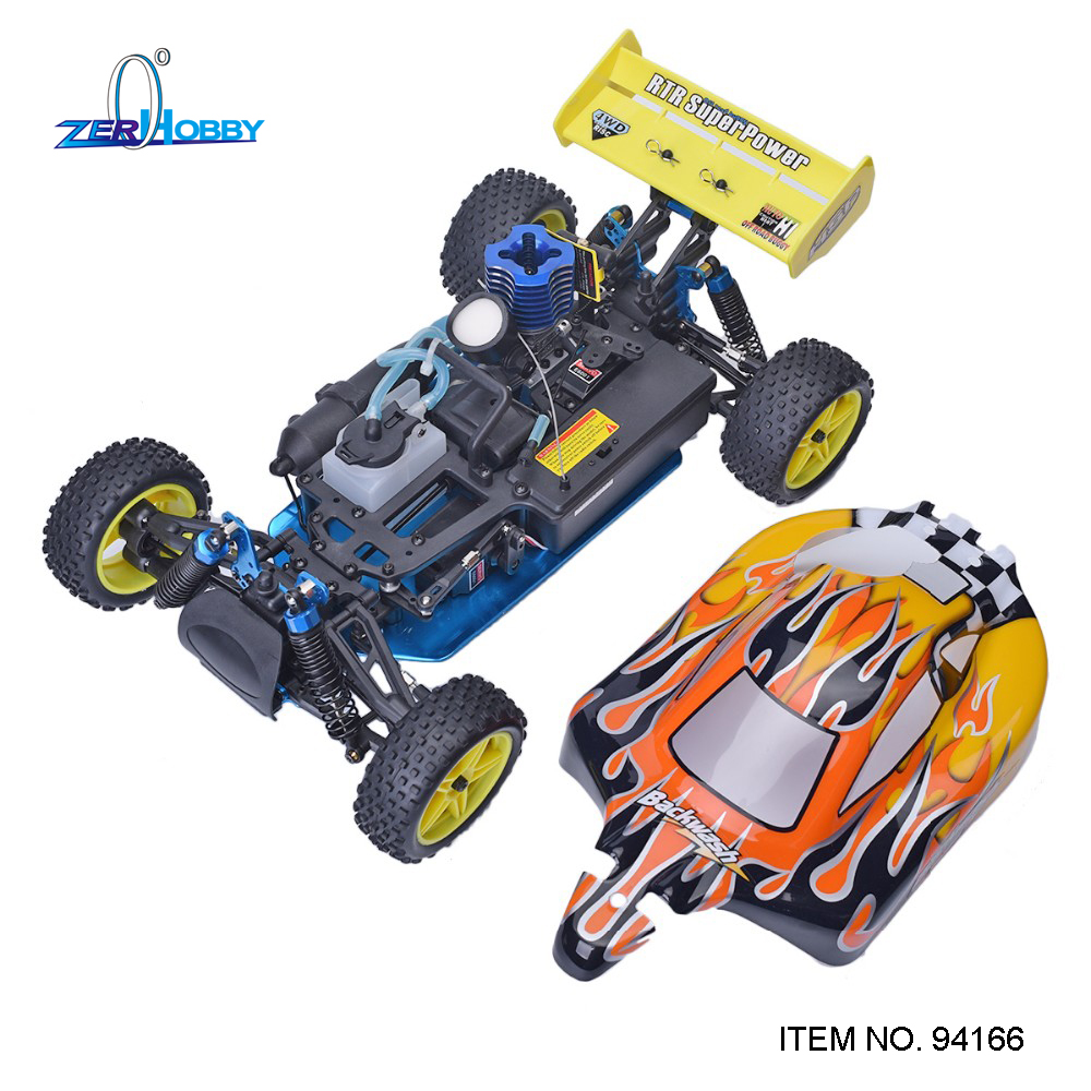 HSP Rc Racing Car 1/10 Scale Nitro Gas Power 4wd Two Speed Off Road Buggy 94166 Backwash High Speed Hobby Rc Remote Control Car
