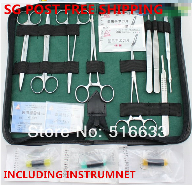 SG POST Free shipping training Surgical instrument tool kit/surgical suture package kits set for doctor and student free shipping employee training table the long tables desk training carrel