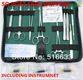 SG POST Frete grátis treinamento Cirúrgico instrumento ferramenta kit/pacote de sutura cirúrgica kits set para o médico e estudante