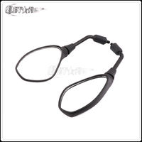 Motorcycle Scooter Plastic Black Rearview Side Mirrors Rear View Mirror For BMW 650 Street Bike
