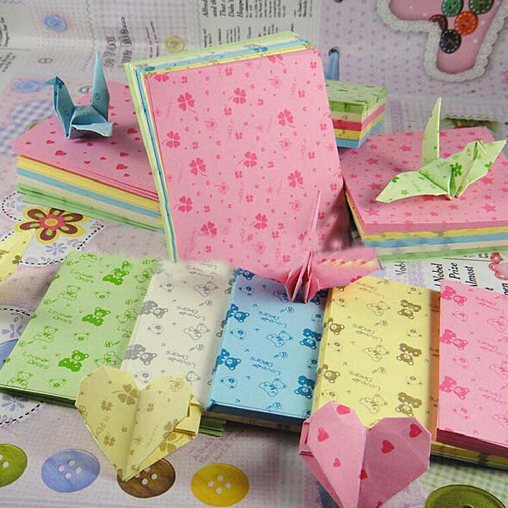 Square Origami Folding Paper Flower Patterned Papers 5 Kinds Of