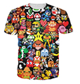 3d camiseta Pikachu Kirby Mario Chocobo arcade estilo Personagem de Banda Desenhada t-shirt Mulheres/Homens Verão Estilo engraçado tops tees plus size