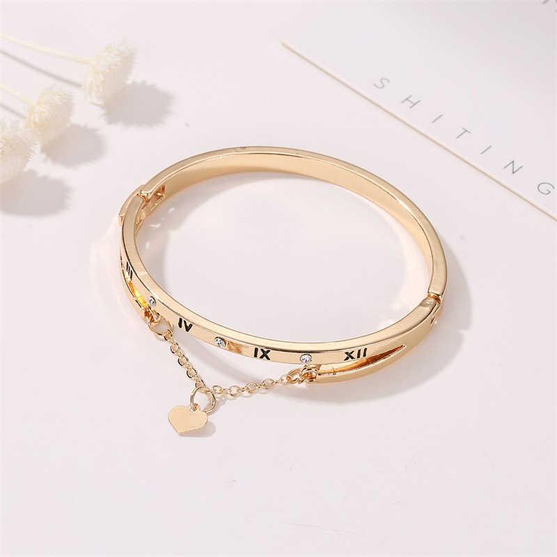 Nowe luksusowe różowe złoto bransoletki ze stali nierdzewnej bransoletki kobiece serce wieczna miłość marka Charm bransoletka kobiety znane biżuteria prezenty