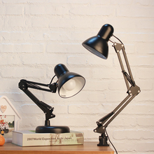Lámparas de escritorio ajustables simples modernas E27 lámparas de mesa LED vintage para estudio, oficina, lectura, noche, dormitorio, biblioteca, sala de estar