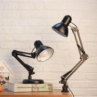 Simples e moderno ajustável lâmpadas de mesa e27 led lâmpadas mesa do vintage para estudo escritório leitura luz da noite quarto biblioteca sala estar|Luminária de mesa| |  -