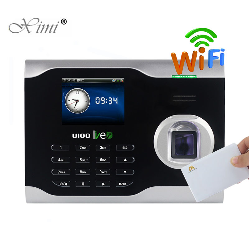 WIFI TCP/IP Fingerprint And MF Card And Password Biometric Time Attendance ZK U100 LIVEID Time Clock Linux System Time Recording