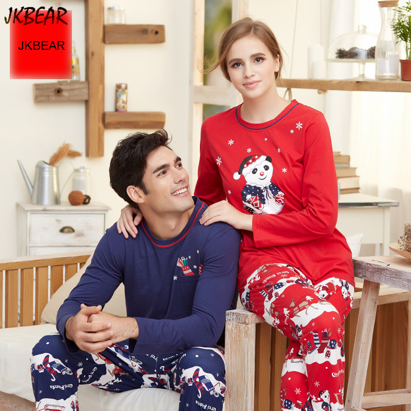 Lovely Matching Christmas PJS for Couples with Panda Wearing ...
