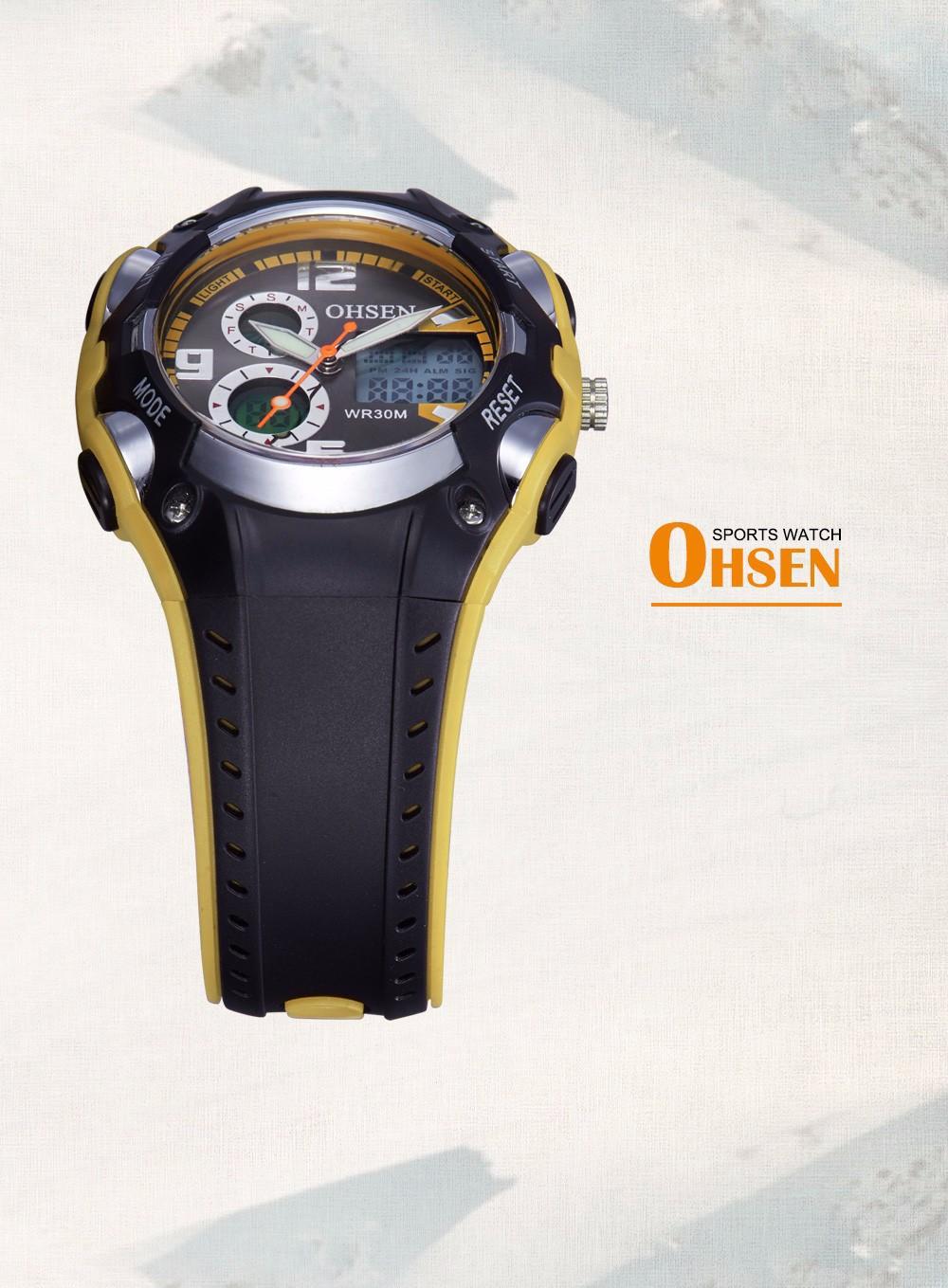 Original Ohsen Brand Fashion Sports Men's Watches 30M Waterproof Rubber Black Rubber Band Digital Sport Wristwatch for Men Gift (19)