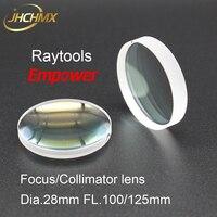 JHCHMX Raytools Collimator Lens/Focus Lens 0 3000W Dia.28mm FL.100/125mm For Raytools Fiber Laser Head BT210 BT230 Bodor Machine